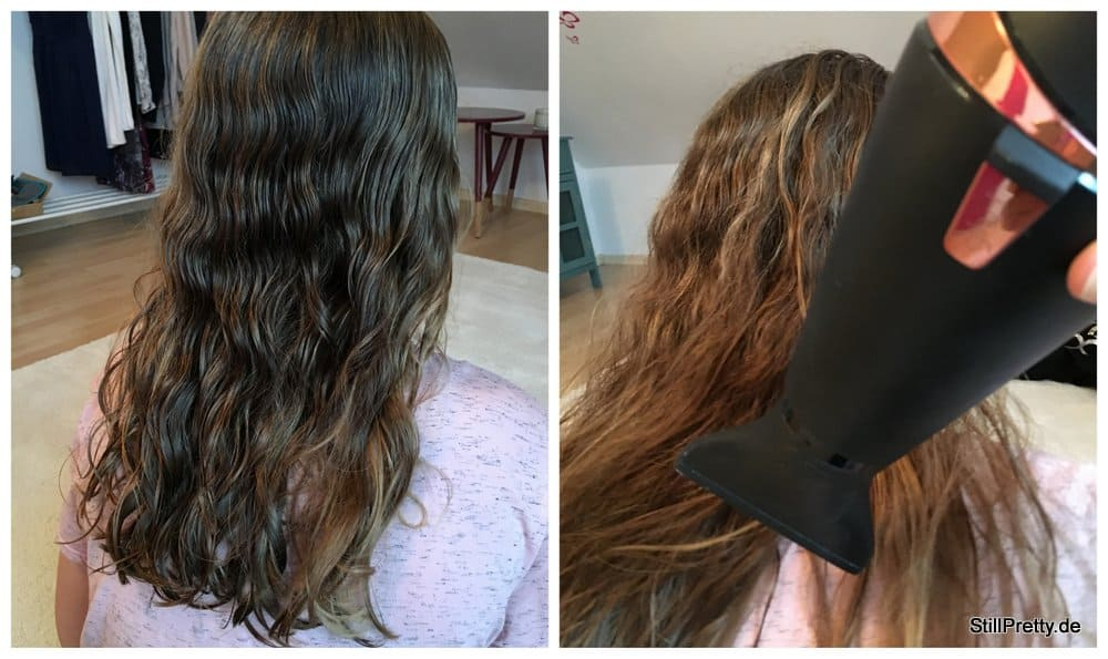 Vorbereitung: Haare trocknen