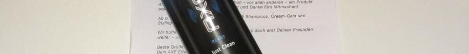 Gratisprodukt: Axe Shampoo Ready Just Clean