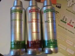Das Testpaket von Smirnoff Cocktails