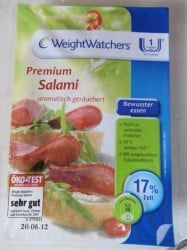 Produkttest Weight Watchers Wurstwaren Salami und Frikadellen