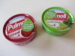 2 Schachteln Pulmoll in den Sorten Kirsch und Limette Minze