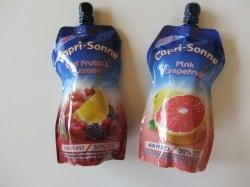 Capri Sonne Getränke in den Geschmacksrichtungen Pink Grapefruit und Red Fruits&Lemon