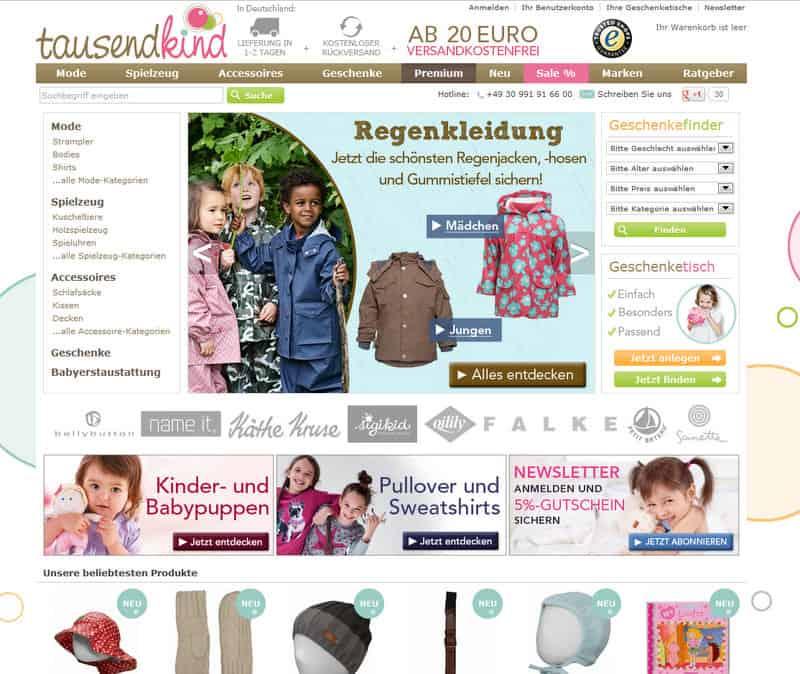 Online Shopping bei Tausendkind.de