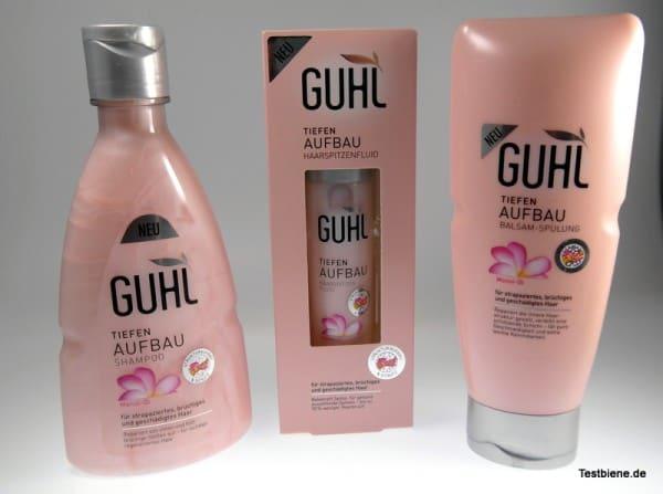 Produkttest Guhl Tiefen Aufbau Shampoo, Spülung und Fluid