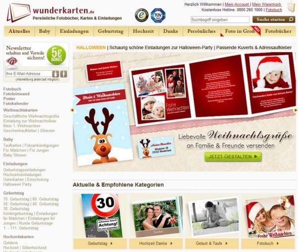 Einladungen zu Weihnachten von Wunderkarten.de