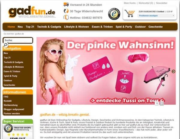 Produkttest bei Gadfun.de