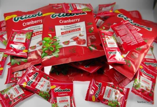Produkttest Ricola Cranberry Kräuterbonbon
