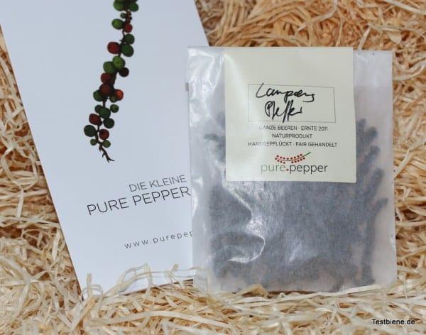 pure.pepper Schwarzer Lampong Pfeffer aus Indonesien