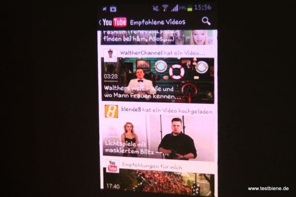 YouTube vom Samsung Galaxy S2