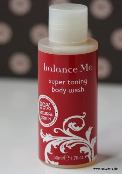 Balance me Super Toning Body Wash (50ml/2,31€)
