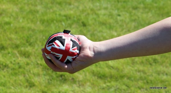 Crossboccia Bälle sind auch für Kinderhände gut zu werfen