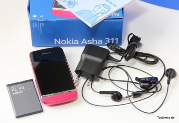 Nokia Asha inkl. Zubehör