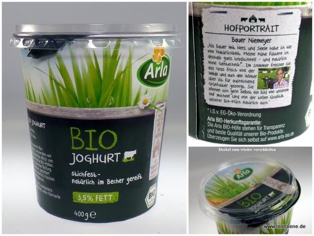 Stichfester Bio Joghurt, natürlich im Becher gereift