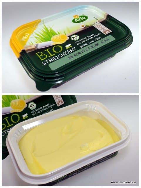 Bio Streichzart: aus bester Bio-Butter und wertvollem Bio-Rapsöl. Auch gekühlt streichfähig