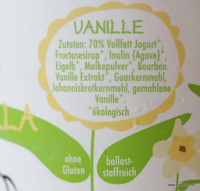 Zutaten Beispiel: Vanille