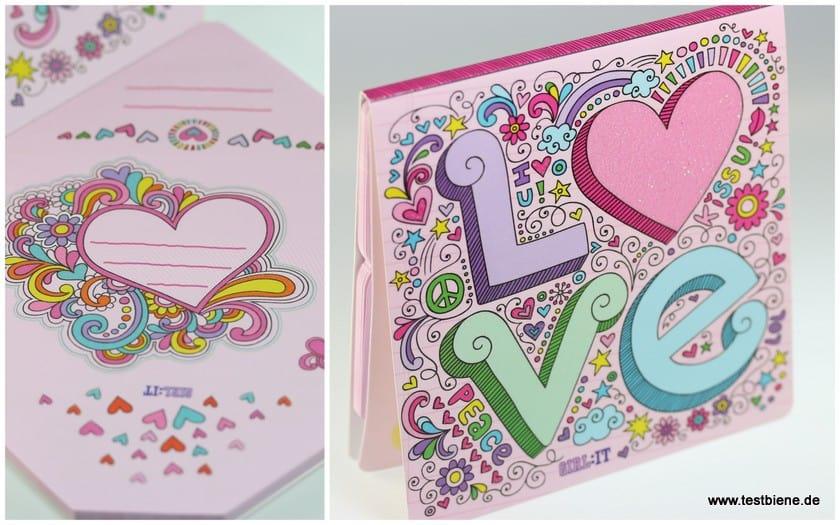 Love Briefchen-Aufkleber Set