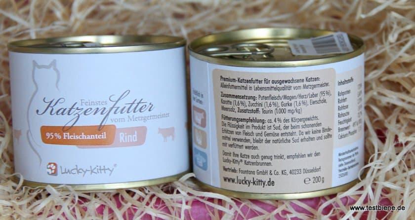 Zum Genießen: Lucky Kitty Premium Pute/Rind (2x 200g / je 2.95€)
