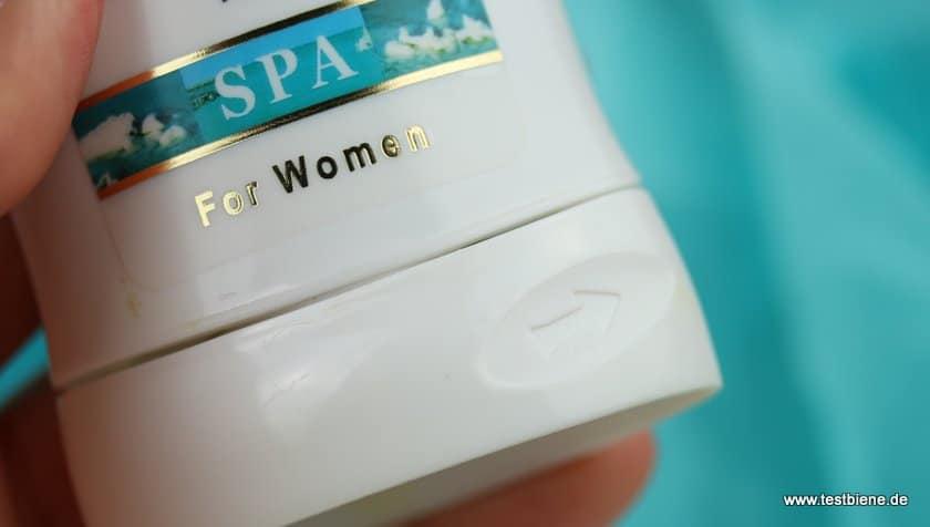 Der Deodorant Stick lässt sich praktisch heraus drehen