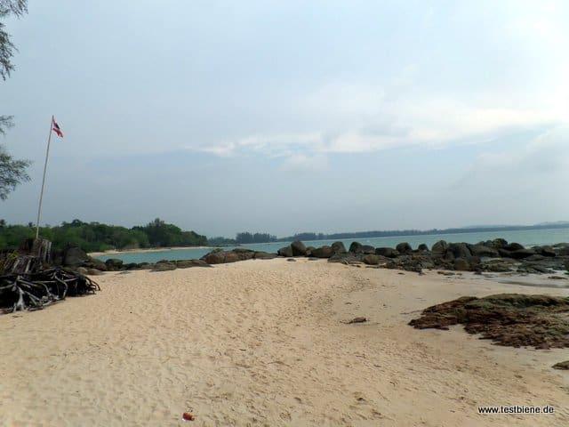 kleine Bucht am Ende des Strandes