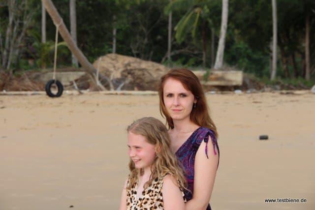 zusammen mit meiner Tochter