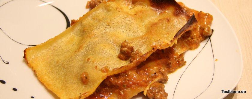 Die Lasagne hat aber trotzdem richtig lecker geschmeckt