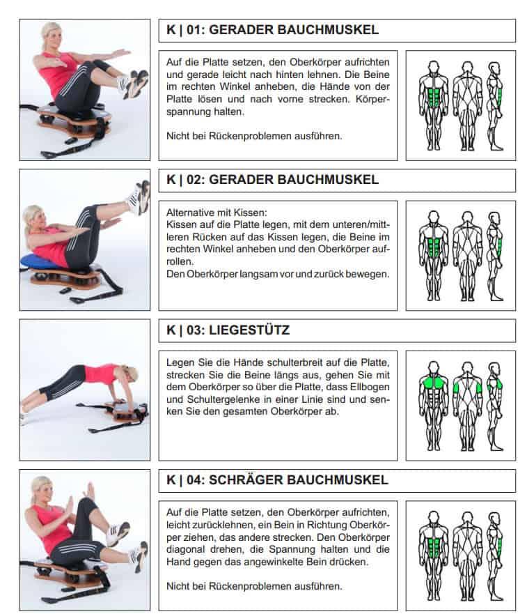 Übungen aus dem Trainingsheft