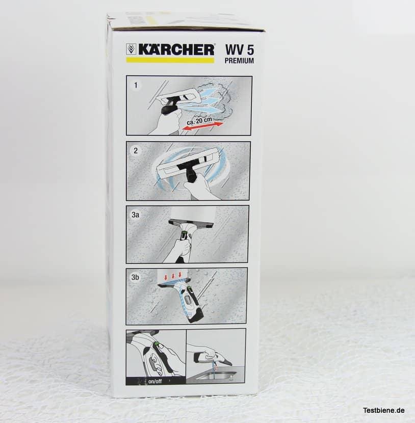streifenfrei fenster putzen mit dem k rcher wv5 premium fenstersauger testbiene. Black Bedroom Furniture Sets. Home Design Ideas